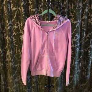 VS Pink Zebra Zip Up